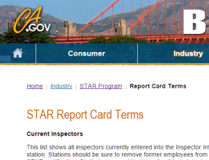STAR Report Card Terms